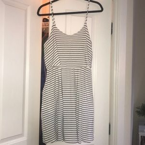 Horizontal stripes dress